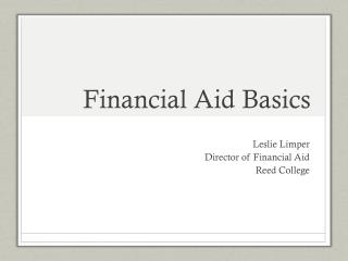 Financial Aid Basics