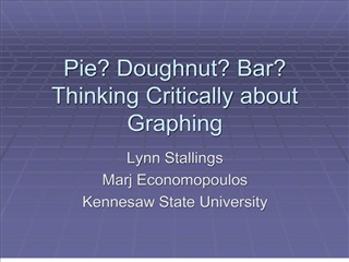 Pie Doughnut Bar Thinking Critically about Graphing