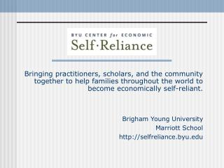 Bringing practitioners, scholars, and the community together to help families throughout the world to become economicall