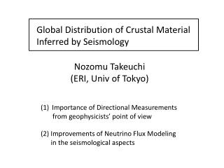 Global Distribution of Crustal Material Inferred by Seismology