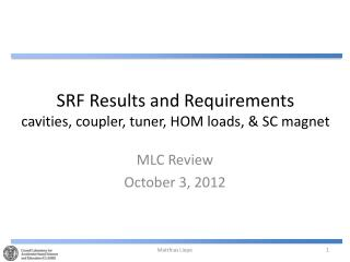 SRF  Results  and  Requirements cavities , coupler,  tuner,  HOM  loads, & SC magnet