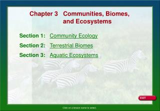 Section 1:    Community Ecology