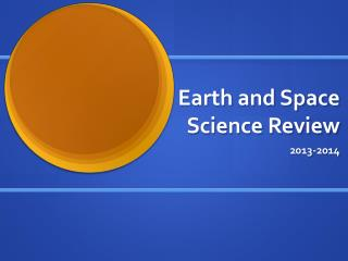 Earth and Space Science Review