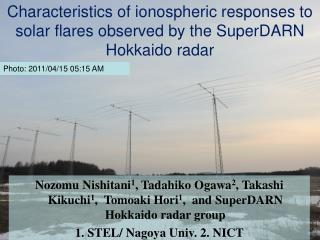 Characteristics of ionospheric responses to solar flares observed by the SuperDARN Hokkaido radar