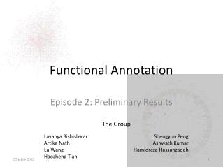 Functional Annotation
