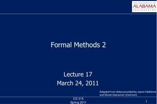 Formal Methods 2