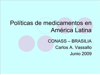 Pol ticas de medicamentos en Am rica Latina