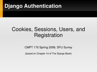 Django Authentication