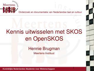 Kennis uitwisselen met SKOS en OpenSKOS