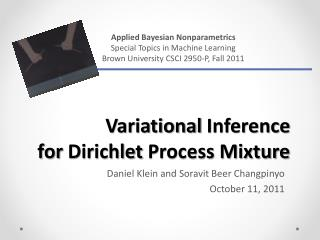 Variational  Inference  for  Dirichlet  Process Mixture
