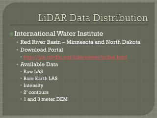 LiDAR Data Distribution