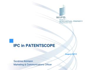 IPC in PATENTSCOPE