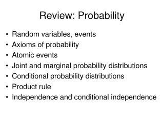 Review: Probability