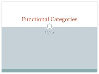 Functional Categories