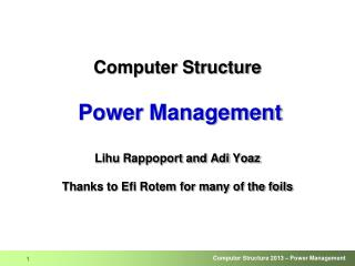 Processor Power Components
