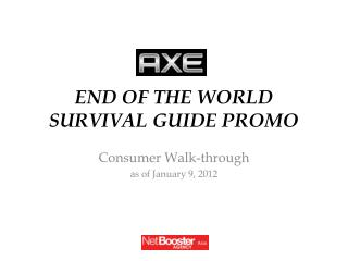 END OF THE WORLD SURVIVAL GUIDE PROMO