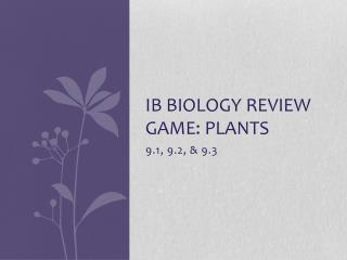 IB Biology Review game: Plants