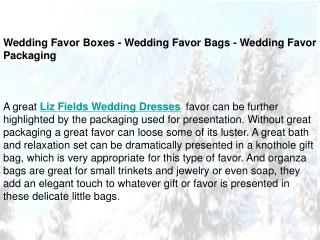 Wedding Favor Boxes - Wedding Favor Bags - Wedding Favor Pac