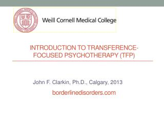 introduction to transference-focused psychotherapy ( tfP ) borderlinedisorders.com