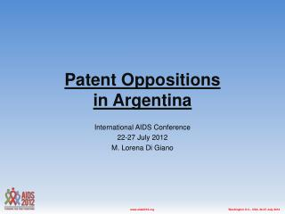 Patent Oppositions  in  Argentina