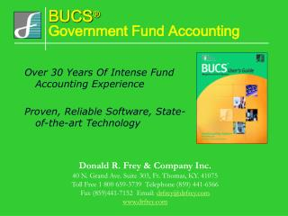 BUCS ® Government Fund Accounting