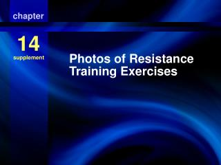 Photos of Resistance Training Exercises