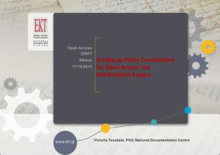 Scaling up Policy Coordination for Open Access: the PASTEUR4OA Project