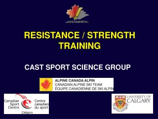 RESISTANCE / STRENGTH TRAINING
