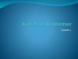 Kinsman Redeemer