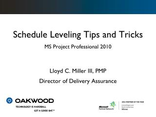 Schedule Leveling Tips and Tricks MS Project Professional 2010