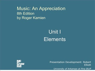 Music: An Appreciation 8th Edition by Roger Kamien