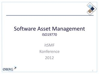 Software Asset Management ISO19770