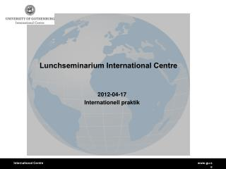 Lunchseminarium International Centre