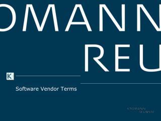 Software  Vendor  Terms