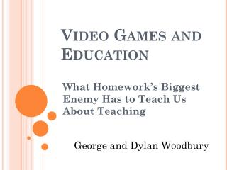 Video Games and Education