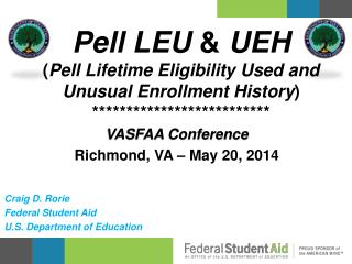VASFAA Conference Richmond, VA – May 20, 2014