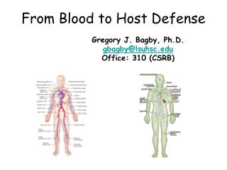 From Blood to Host Defense