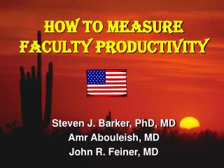 How to Measure Faculty Productivity
