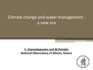 Climate change and water management  : a new era