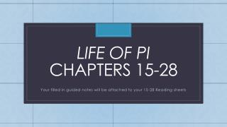 Life of pi chapters 15-28
