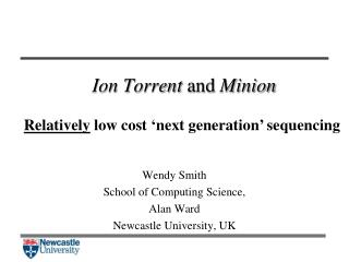 Ion  Torrent  and  Minion