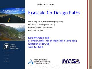 Exascale  Co-Design Paths