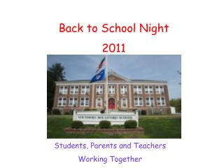 Back to School Night 2011