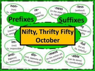 Nifty, Thrifty Fifty October