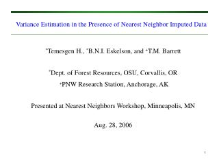 Variance Estimation in the Presence of Nearest Neighbor Imputed ...