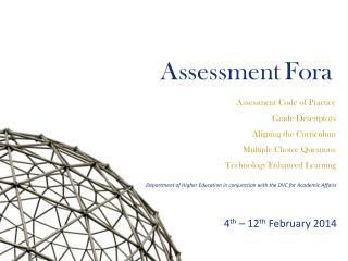 Assessment Fora