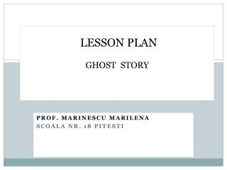 LESSON PLAN  GHOST  STORY