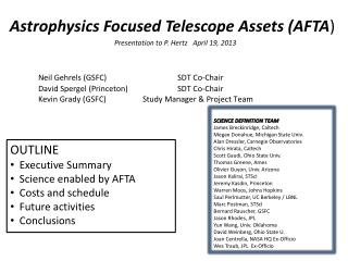Astrophysics Focused Telescope Assets (AFTA )