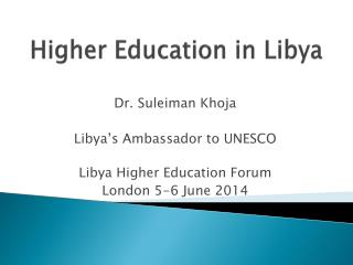 Higher Education in Libya