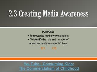 2.3 Creating Media Awareness
